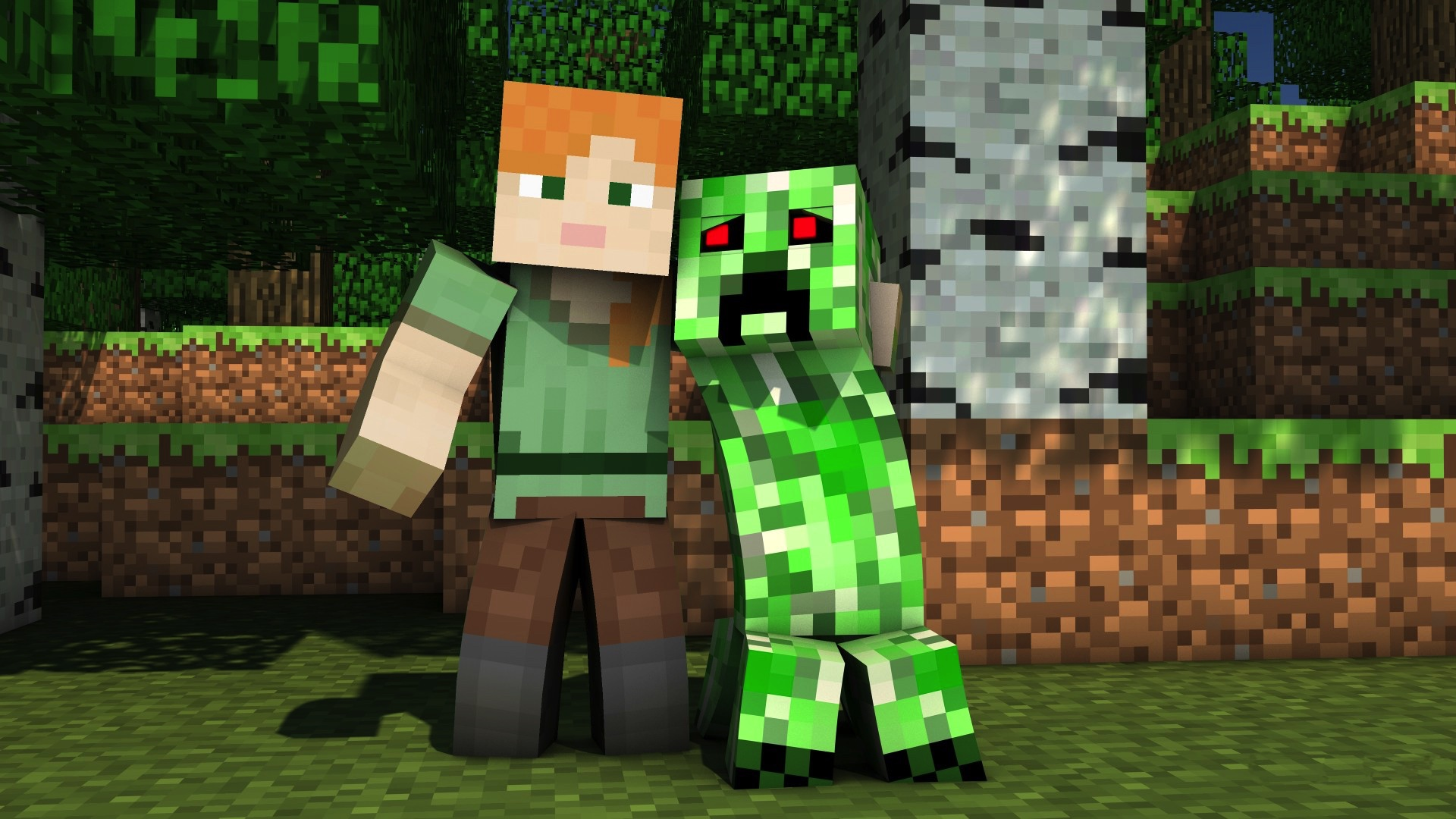 Must see Wallpaper Minecraft Roblox - alex-and-creeper-wallpaper  HD_458630.jpeg